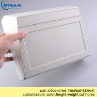 Caja de Proyecto de plástico ABS  productos de carcasa electrónica de plástico  conectores de cable de instrumento diy  caja de escritorio 275*204*97mm|Cajas de conexión de cables| |  -