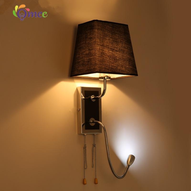 Red Black White E27 2w Led Modern Wall Light Bulb Lamps