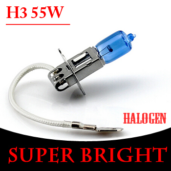 car lamp DC12V 55W H3 Halogen Bulb Quartz Glass uper Bright White Car Head Light XENON Fog Lamp ZM01117 - Hua Shang Tripod CO., LTD store