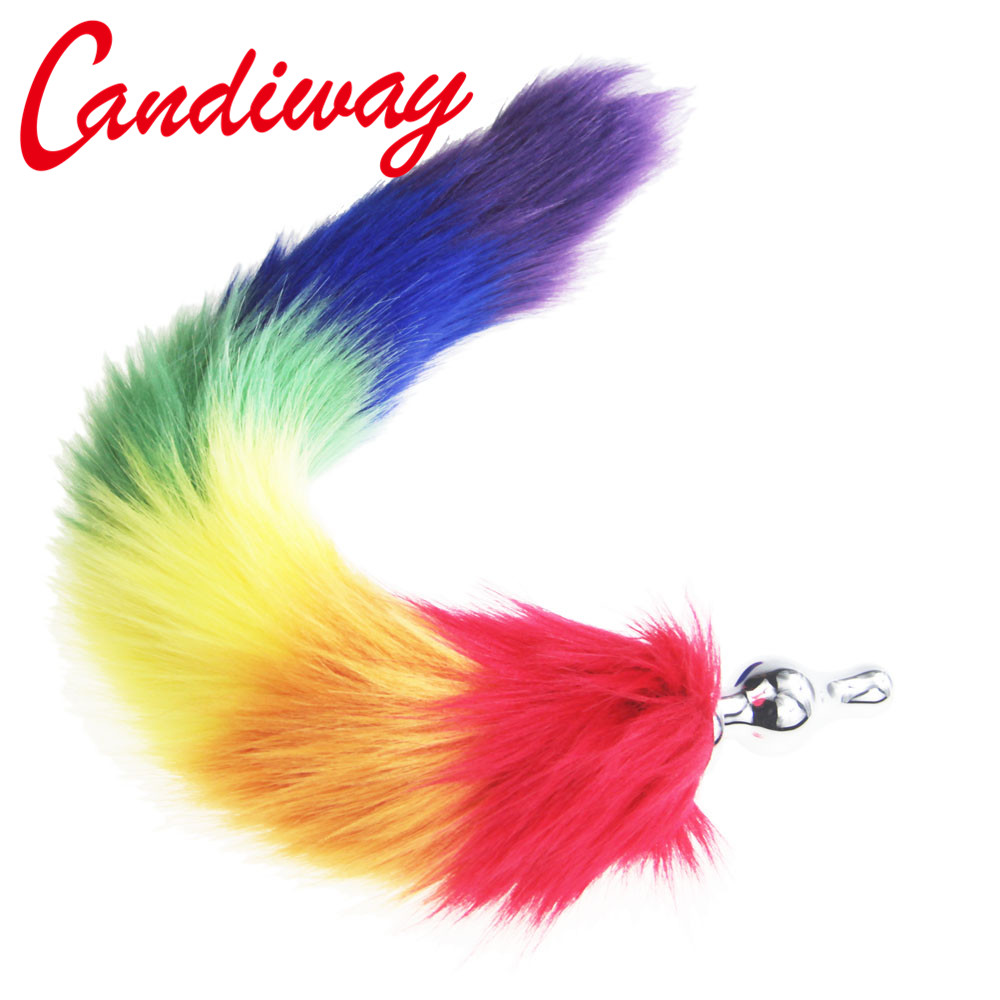 489a67ffb40 rainbow Fox Tail DOG TAILS Butt Anal Plug BULLET buttplug G SPOT Sex Toy  role play Dog Tails COUPLES LOVER Products SEX GAME-in Anal Sex Toys from  Beauty ...