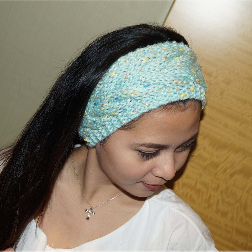 Colorful Bronzing Knitted Woolen Headband For Women Adult Winter ...