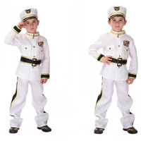 Free Shipping Halloween Costumes For Children Boys Kids Police Navy Sailor Costume Cosplay Fantasia Disfraces Game