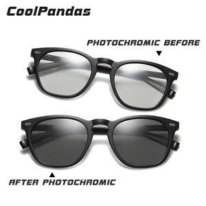 Image 5 - Fashion Intelligent Photochromic Sunglasses Women Polarized Driving Sun glasses Men gafas de sol mujer lunette de soleil femme