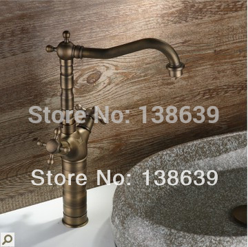 Free shipping Luxury Antique Brass Bathroom Kitchen Basin Sink ...