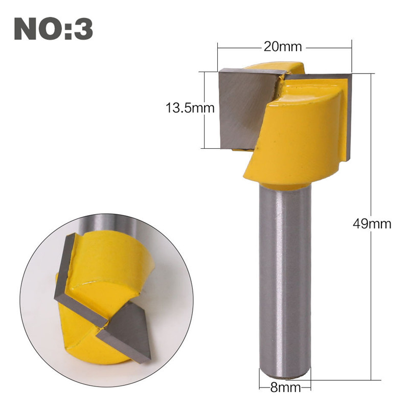 Image 5 - 1pc 8mm Shank Cleaning Bottom Router Bit Engraving Bit Solid Carbide Woodworking Tools CNC Milling Cutter Endmill For Wood-in Milling Cutter from Tools