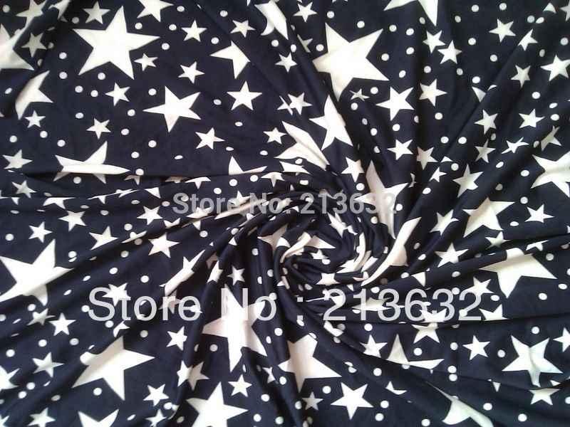 Пурпурно-синий Принт звезды печать текстильная занавеска тутового пятна римская ткань royalblue стрейч печатная звезда трикотажная ткань