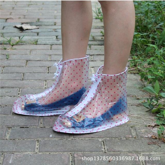 Thickening Reusable Waterproof Overshoes Shoe Covers Shoe Protector Anti-slip Rain Boot Men&Women's&Children Shoes Accessories 5
