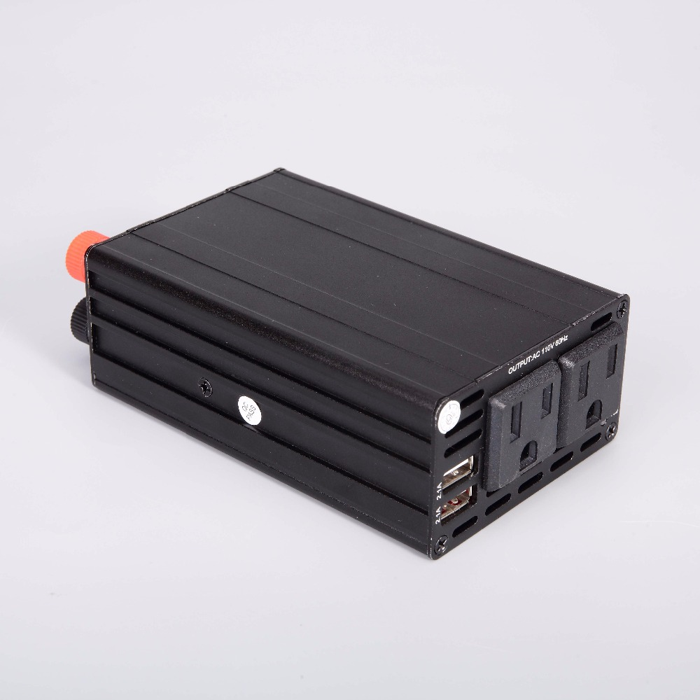 300 W NOUS Onduleur 12 V/24 V à 110 v Inverseur De Voiture Automobile Convertisseur de Puissance Double USB 4.2A