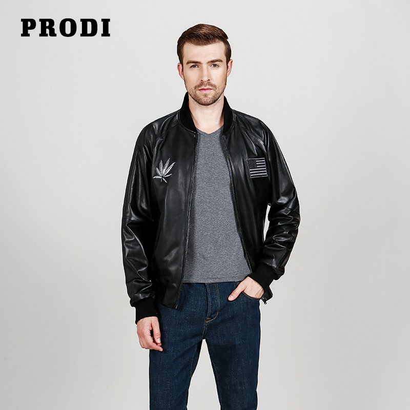 PRODI Men's genuine leather jacket lambskin jacket pilot leather jacket PD1617