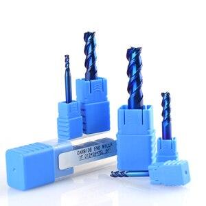 Image 4 - Xcan 1 Pc 1 12 Mm Blauw Gecoat 3 Fluit Carbide End Mills Aluminium Snijden Frees Spiraal Router bit Cnc End Mill