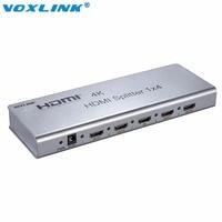 VOXLINK Full HD 4 K HDMI Splitter Kutusu 2 Port/4 Liman/8 Port Hub v1.4 3D 1080 p 1 in 2/4/8 out Destek IR uzatma HDCP HDTV Için PS4