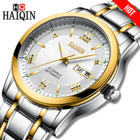 Haiqin homens relógio de pulso da marca de luxo automático mecânico aço à prova dwaterproof água militar relógio masculino relogio masculino|Relógios mecânicos| |  -