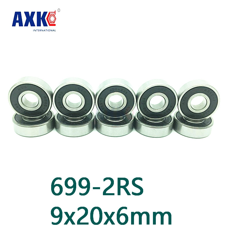 Axk Free Shipping 699-2rs 699 Rs Hybrid Ceramic Deep Groove Ball Bearing 9x20x6mm For Bicycle Part Hubs axk free shipping 1pcs 6901 2rs hybrid ceramic si3n4 ball 61901 ceramic bearing 12 24 6mm 6901 2rs