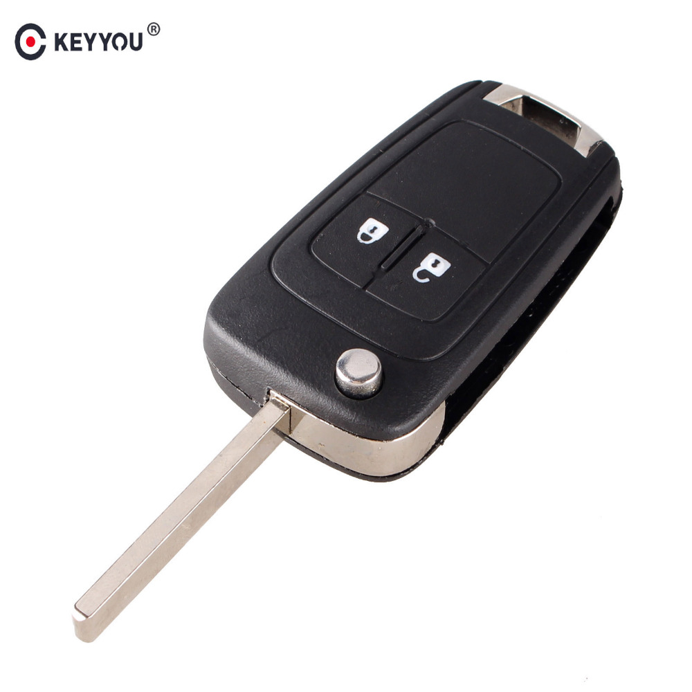 KEYYOU 20pcs lot Flip Folding Remote Key Case For OPEL VAUXHALL Insignia Astra 2 Button HU100