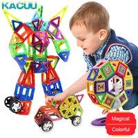 58 158pcs Big Size Magnetic Construction Kid DIY Magnetic Blocks Designer Model & Building Toys Educational Toys For Children