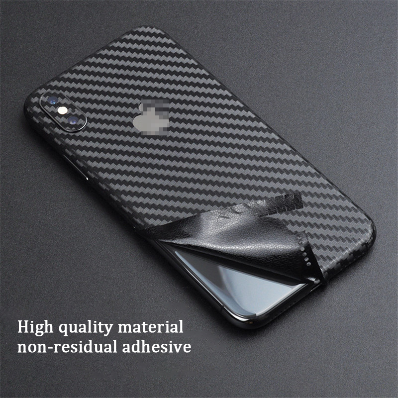 Ultra Thin Carbon Fiber Back Cover Sticker Film For iPhone X Xs Xr Xs Max Protector Skin For iPhone 7 8 6 6S Plus Decal Stickers