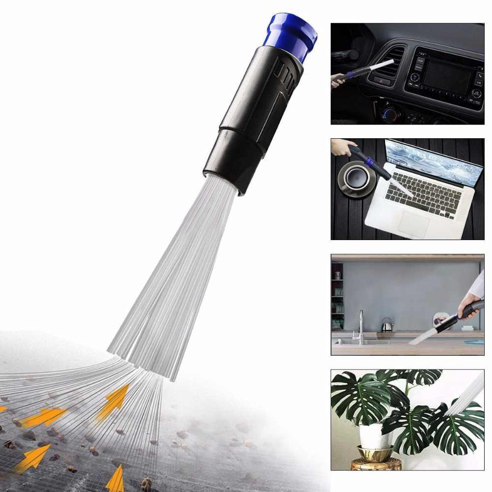 Universal Vacuum Attachment Dust Small Suction Brush Tubes Cleaner Remover Tool Cleaning Brush for Air Vents Keyboards
