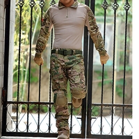 Outdoor Sport Combat Shirt & Pants Set Tactical GEN3 BDU Uniform MultiCam Camo