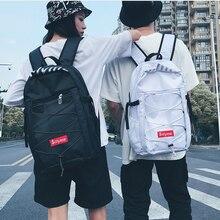 Корейский стиль, уличный тренд, хип-хоп рюкзак для подростков, школьный рюкзак унисекс, рюкзак для отдыха и путешествий, D182