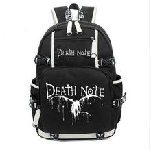 Anime Death Note Cartoon Luminous Glow in Dark Backpack Shoulder Bag Schoolbag Laptop Bags Rucksack Gift