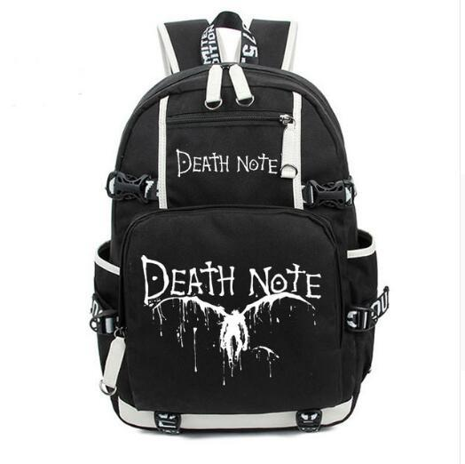 Death Note Cartoon Luminous Glow in Dark Backpack Shoulder Bag