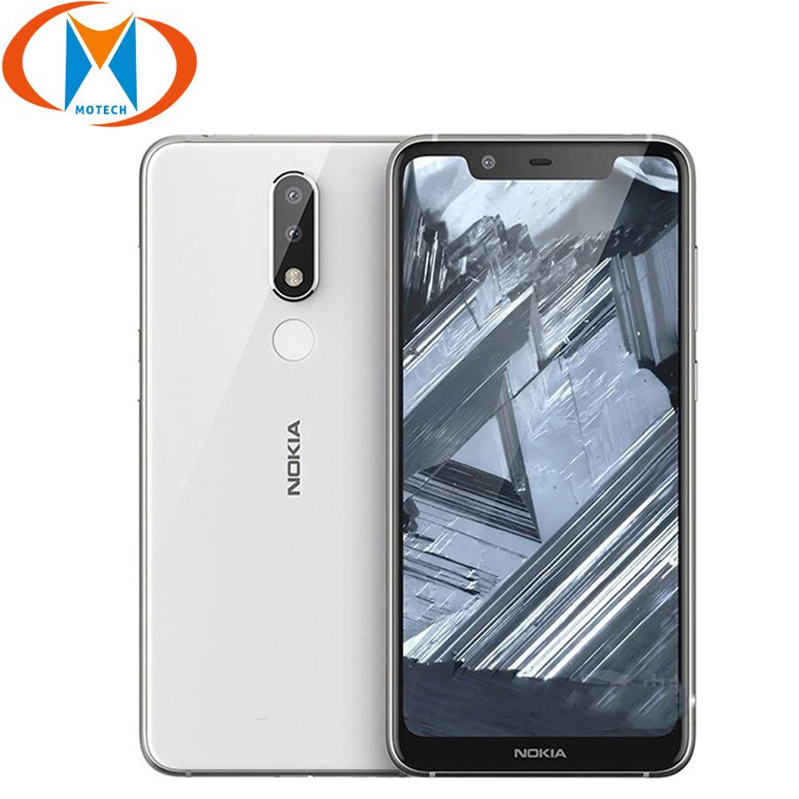 "5.86"" 4GB RAM 64GB ROM Nokia X5 Mobile Phone 4G LTE Octa Core 13MP+5MP Dual Rear Camera Fingerprint Android 8.1 SmartPhone"