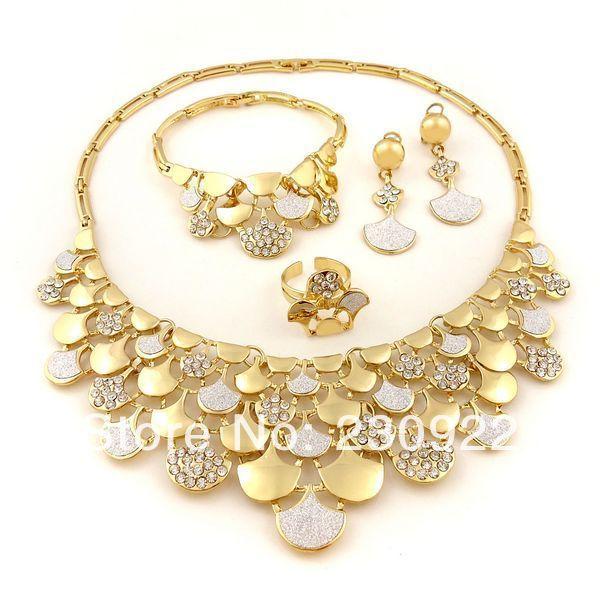 2014 22k gold plated jewelry set Pakistani bridal dubai gold