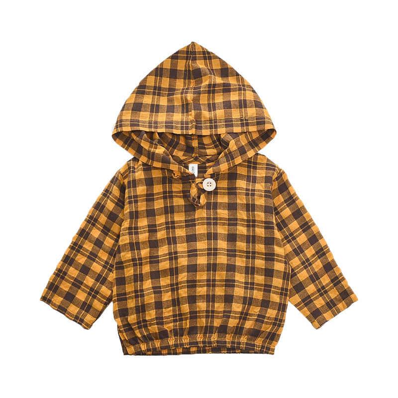 Детская одежда; коллекция 2019 года; Весенняя клетчатая шапка для маленьких мальчиков и девочек; футболка с шутливой надписью; N082