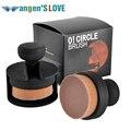 O-cuello de la nueva Llegada! círculo Oval Estilo de Pincel de Maquillaje Fundación Air Brush polvos Sueltos Pincel de Pelo Sintético Grande