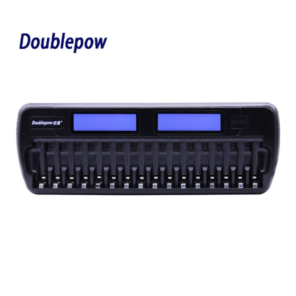 Doublepow Battery Charger 16 Slots LCD Intelligent Charger Rapidly Effectively Charging For AA AAA Ni-CD/Ni-MH Battery