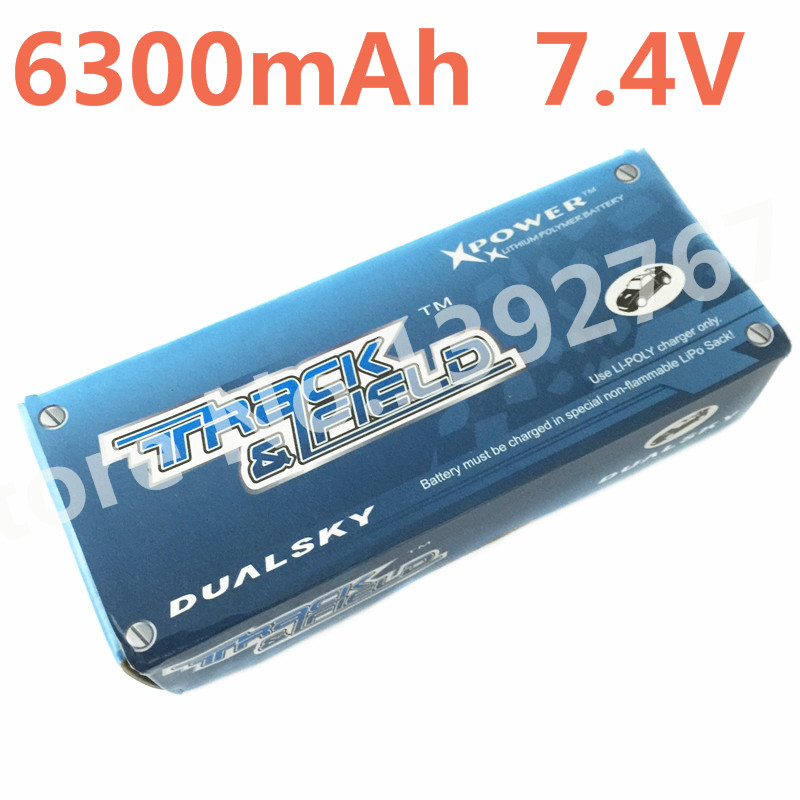 все цены на Dualsky 6300mAh 7.4V 2S1P 46.6Wh Lithium-Polymer Batteries Hard Case 60C Lipo Battery For 1/10 Scale Models RC Cars онлайн