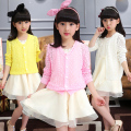 Girls new fashion no good thin knit cardigan sweater air-conditioned shirt children's clothing anti Sai adult wear US Size