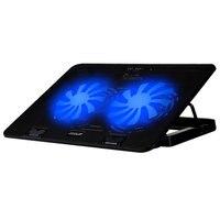 12 17 Inch Laptop Notebook Ultrabook Cooling Pad 2 Fans Led Light Dual USB Port Adjustable
