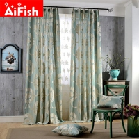 Insulation Shade Curtains Fabrics Luxury Europe 3D Jacquard Embossed Embroidery Window Curtains For Living Room
