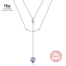 LEKANI Crystals From Swarovski Necklace925 Ladies Heart Gift Pendant Necklace Ladies Dance Fashion Accessories her jewellery cute small bear pendant necklace best fashion pendant made with crystals from swarovski hp0538