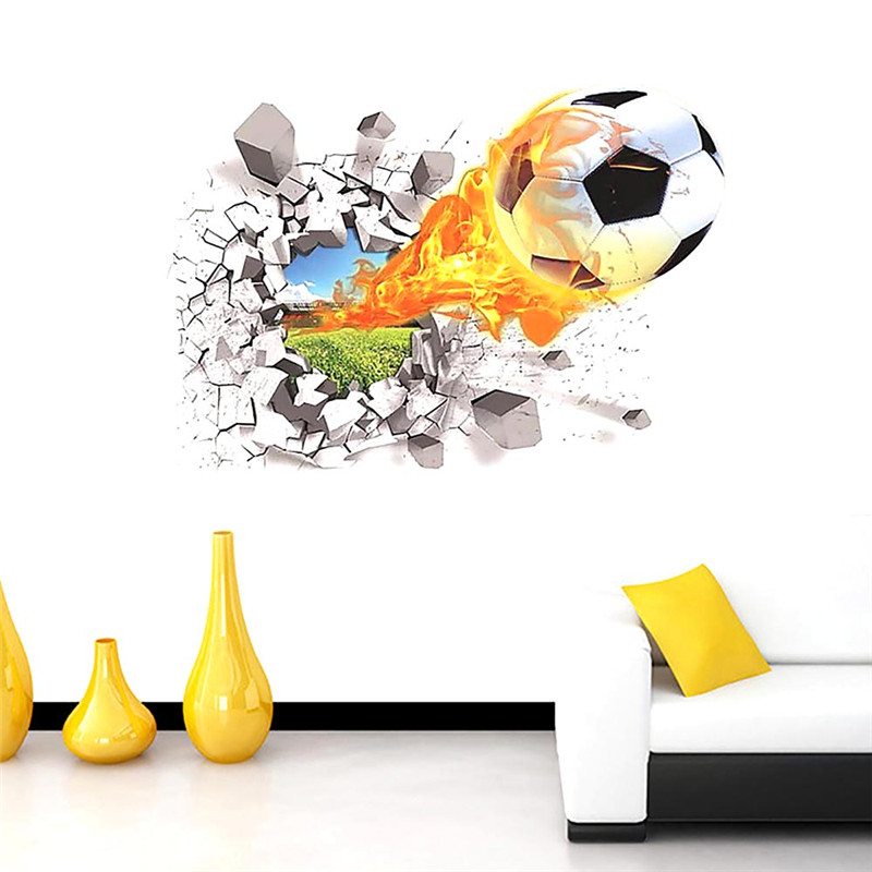 Wonderful AeProduct GetSubject 3D Waterproof Football Soccer Ball Through The Wall  Stickers TV. Homey Design Soccer Decor.