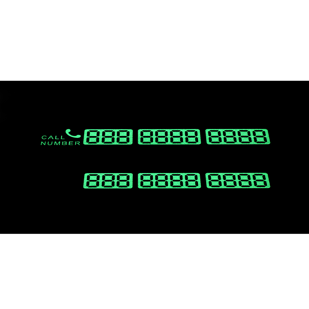 Temporary Car Parking Card Sticker Telephone Number Card Notification Night Light Sucker Plate Car Styling Phone Number Card 11