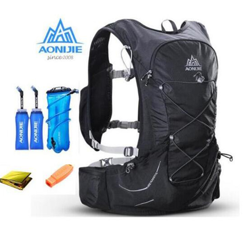 AONIJIE 15L Outdoor Light Weight Hydration Backpack Rucksack Bag Free 3L Water Bladder For Hiking Ultra