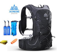 AONIJIE 15L Outdoor Light Weight Hydration Backpack Rucksack Bag Free 3L Water Bladder For Hiking Ultra Trail Running Race