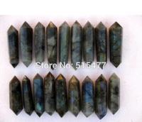 30 36 NATURAL Labradorite quartz crystal double point healing