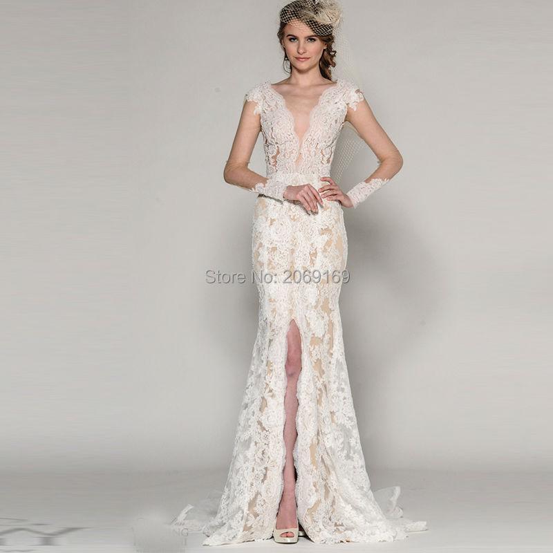 Online buy wholesale western wedding dresses from china for Western lace wedding dresses