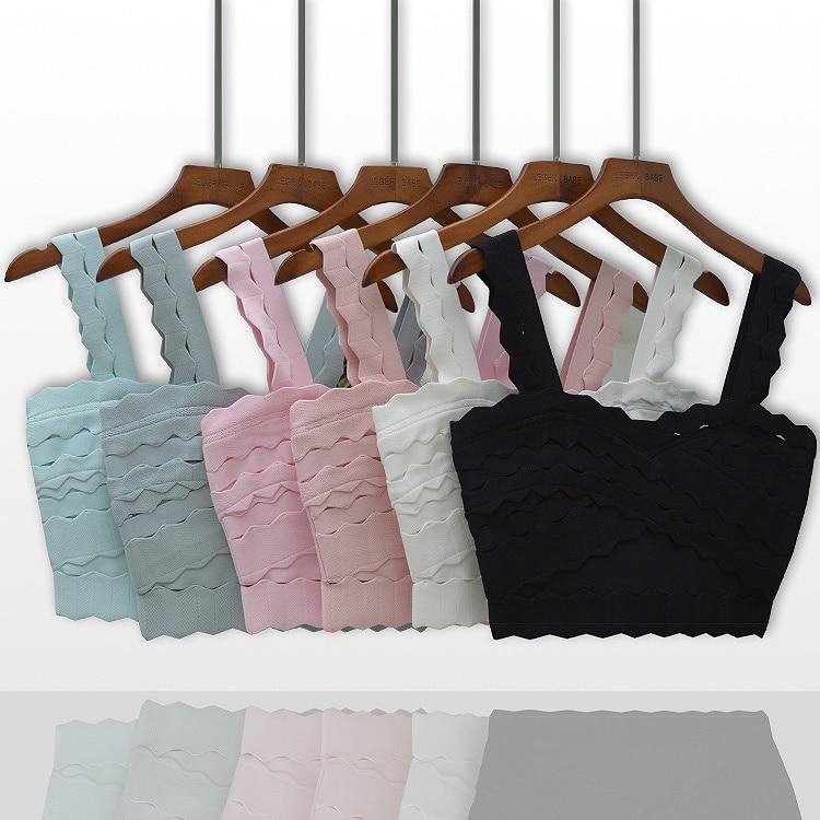 6 couleurs noir blanc rose bleu célébrité haut court partie rayonne Bandage haut