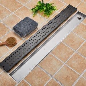Image 5 - 스테인레스 스틸 욕실 바닥 드레인 900mm 선형 롱 샤워 창살 욕실 채널 타일 배수구