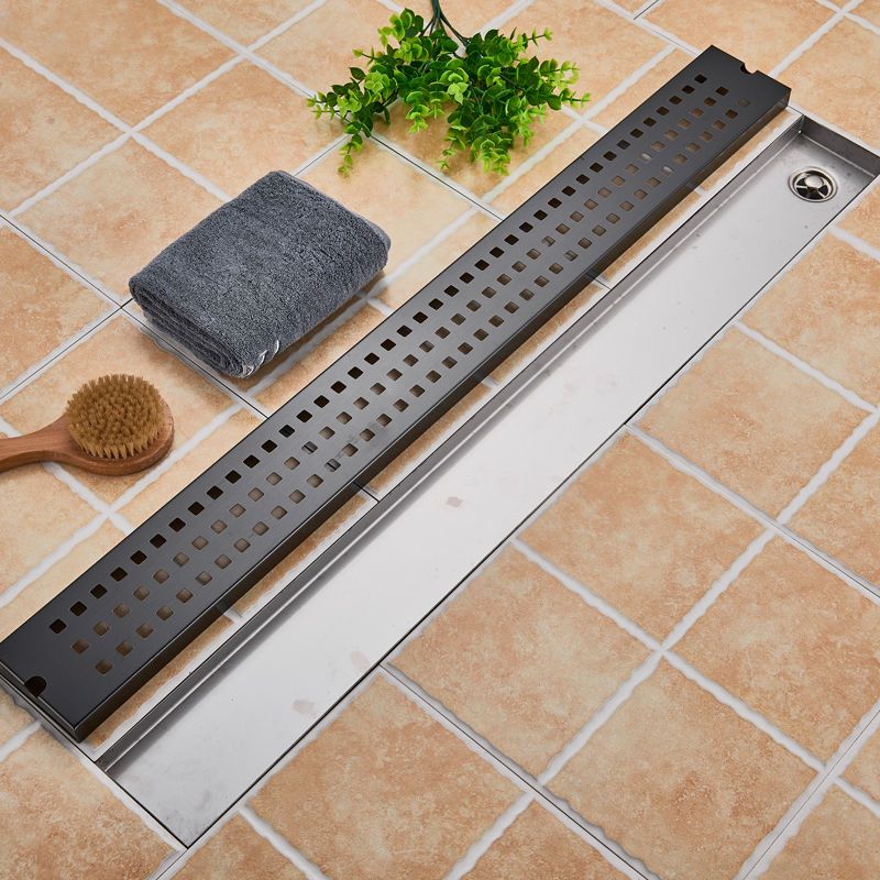 Image 5 - Stainless Steel Bathroom Floor Drain 900MM Linear Long Shower Grate Bathroom Channel Tile Drains-in Drains from Home Improvement