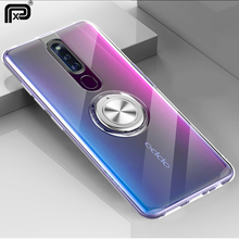 For OPPO F11 Pro Reno K1 RX17 NEO F9 A7X 10x zoom Case Cover Soft Transparent Protective Ring Stand Back
