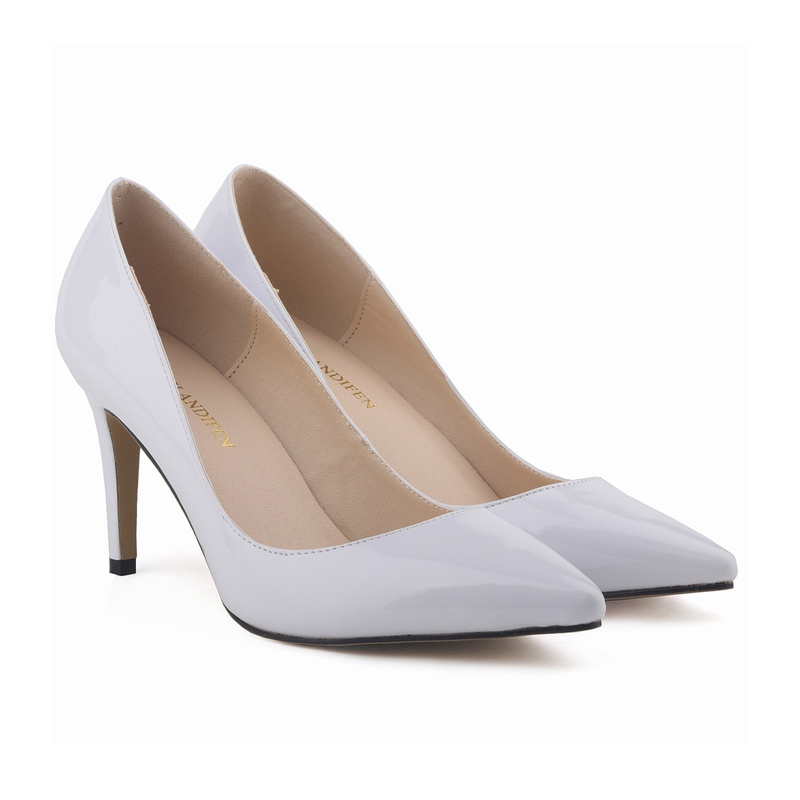 bcadeee8c9a US $21.0 41% OFF|LOSLANDIFEN Women Pumps Patent Leather Fashion Pointed Toe  High Heels Shoes lady corset WORK PUMPS COURT SHOES US 4 11 952 1PA-in ...