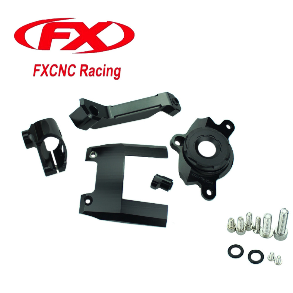 CNC Motorcycle Advailable Steering Stabilize Damper Bracket Mounting Holder Kit For Kawasaki Z1000 Z 1000 2016 - 2017 16 17