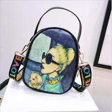 New All Large Capacity Shoulder Bag LOVE Wide Strap Cute Crossbody Fashion Cartoon Printing Girl Bags Messenger