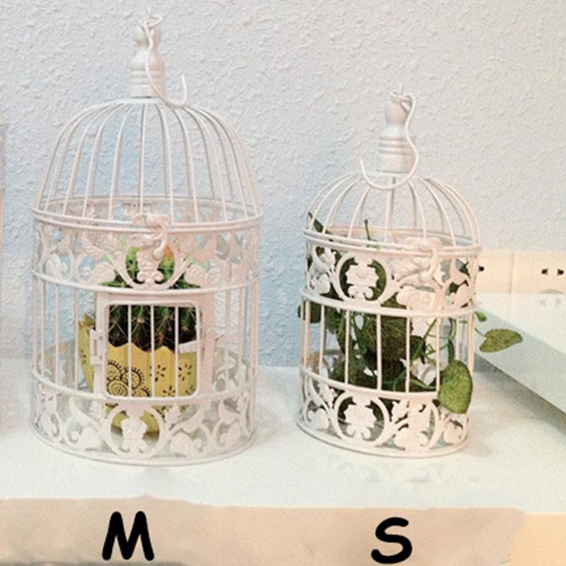 hecho a mano de la manera grande antiguo birdcage jaulas de aves decorativas de hierro clsico
