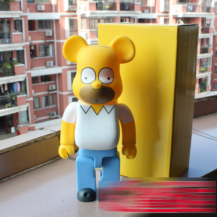 11 inch Bearbrick The Simpons Father 400% Large Size Decoration Doll 28cm Fashion Toys W/ Box11 inch Bearbrick The Simpons Father 400% Large Size Decoration Doll 28cm Fashion Toys W/ Box